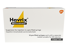 Havrix Monodose product pack